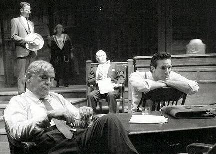 "Actor Michael Krebs in ""Inherit                 the Wind"""